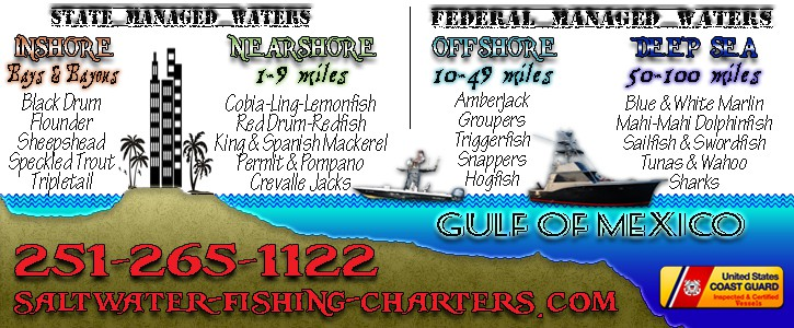 Deep Sea Fishing Charter Areas in Orange Beach